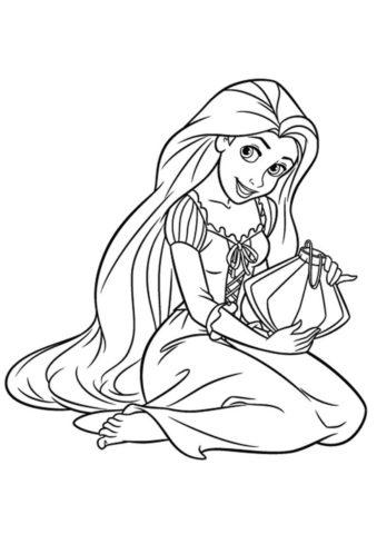 Исполнение мечты (Рапунцель) раскраска для печати и загрузки