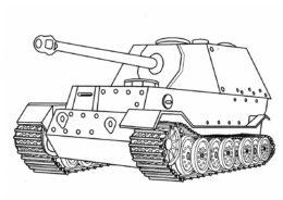 Истребитель танков Фердинанд (Германия) - Танки раскраска распечатать на А4