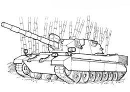 Итальянский танк OF-40 разукрашка скачать и распечатать - Танки