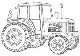 Раскраска Железный конь распечатать на А4 и скачать - Трактора