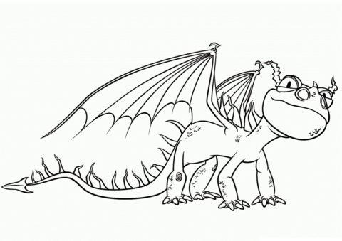 Бесплатная раскраска Жуткая Жуть распечатать на А4 - Драконы