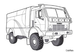 КАМАЗ 4326 - Грузовики распечатать раскраску на А4