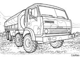 Грузовики бесплатная разукрашка - КамАЗ-6350