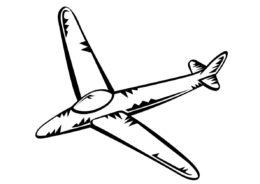 Картонный самолетик (Самолеты) бесплатная раскраска