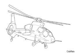 Вертолеты бесплатная разукрашка - Kawasaki OH-1 Ninja