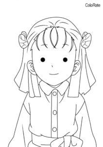 Раскраски из аниме «Клинок, рассекающий демонов» бесплатная раскраска - Киё Тэраути