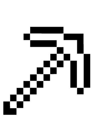 Майнкрафт бесплатная разукрашка - Кирка