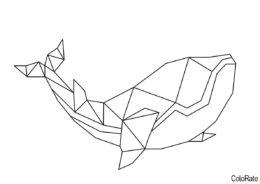 Геометрические фигуры распечатать раскраску - Кит