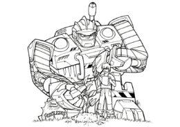 Коди и Болдер - Трансформеры распечатать раскраску на А4