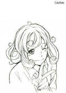 Раскраска Кофуку распечатать на А4 и скачать - Бездомный бог