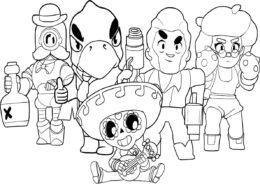 Разукрашка Команда героев Браво Старс распечатать на А4 и скачать - Браво Старс