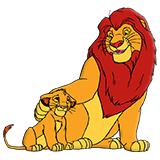 Король Лев - бесплатные раскраски