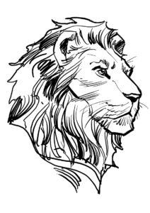 Разукрашка Король Муфаса распечатать и скачать - Король Лев