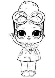 Королева Боссов (L.O.L Confetti Pop) распечатать раскраску