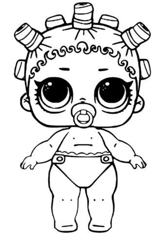 Космическая королева малышка распечатать раскраску - L.O.L Маленькие сестренки