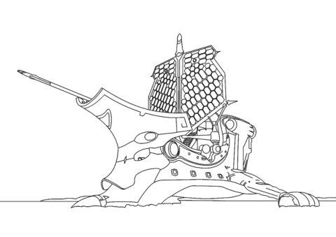 Корабль Хаос (Зак Шторм) разукрашка для печати на А4