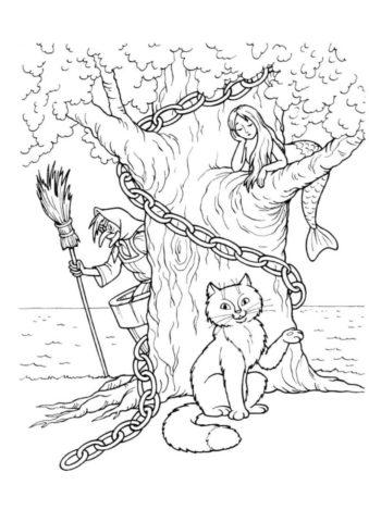 Бесплатная раскраска Кот ученый распечатать и скачать - Коты, кошки, котята