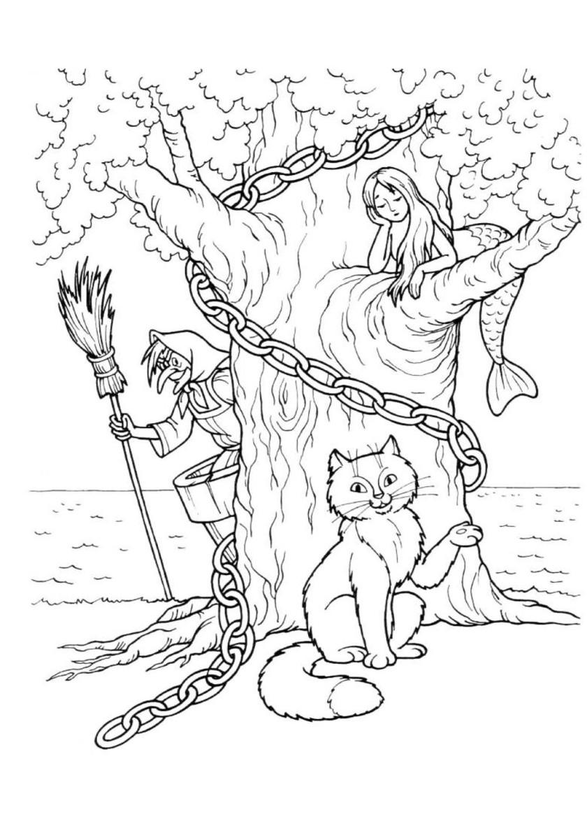 Раскраска Кот ученый распечатать | Коты, кошки, котята
