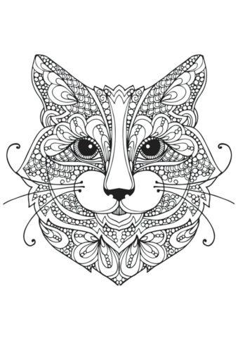 Котофей (Коты, кошки, котята) раскраска для печати и загрузки