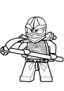 Раскраска Коул распечатать на А4 и скачать - LEGO Ниндзяго