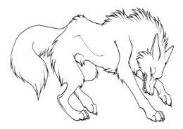 Коварный волк бесплатная раскраска - Волки