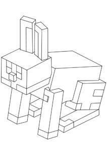 Кролик раскраска распечатать бесплатно на А4 - Майнкрафт