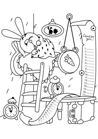 Бесплатная раскраска Крош не хочет вставать распечатать на А4 и скачать - Смешарики