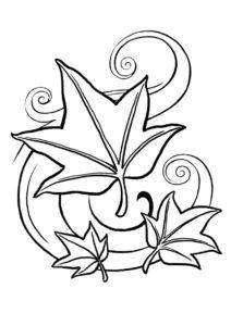 Бесплатная раскраска Кружатся листья распечатать и скачать - Осень