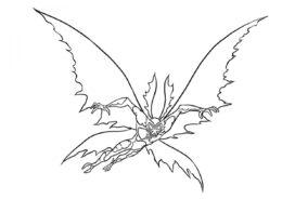 Крылатый атакует разукрашка скачать и распечатать - Бен 10