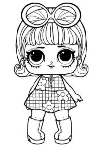 L.O.L Девочка Гоу-Гоу раскраска распечатать бесплатно на А4 - L.O.L Confetti Pop
