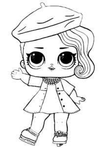 L.O.L Шикарная Леди бесплатная раскраска - L.O.L 2 серия