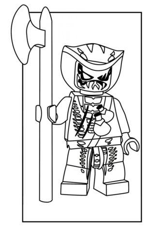 Бесплатная раскраска Лаша распечатать и скачать - LEGO Ниндзяго