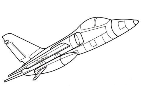 Разукрашка Легкий штурмовик AMX распечатать и скачать - Самолеты