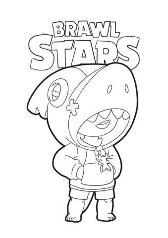Бесплатная раскраска Леон - легендарный персонаж распечатать на А4 - Браво Старс