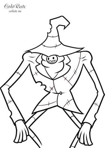 Раскраска Летоуинский Ловкач по мультфильму Гравити Фолз