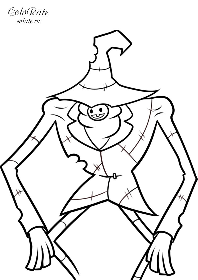 Раскраска Летоуинский ловкач распечатать | Гравити Фолз
