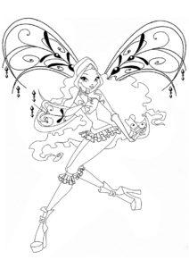 Бесплатная раскраска Лейла из клуба Winx - Лейла