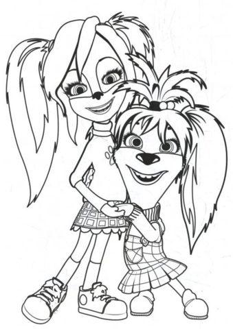 Лиза и Роза Барбоскины (Барбоскины) бесплатная раскраска