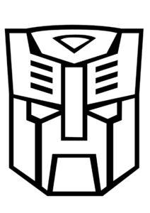 Бесплатная раскраска Логотип автоботов - Трансформеры