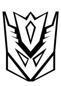 Раскраска Логотип десептиконов распечатать и скачать - Трансформеры