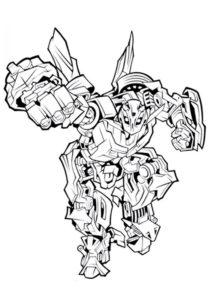 Раскраска Любимчик публики Бамблби - Трансформеры