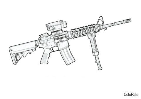 M4 Carbine (Военные) раскраска для печати и загрузки