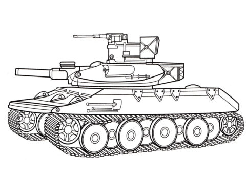 Бесплатная раскраска M551 Шеридан (США) распечатать на А4 - Танки