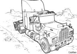 Mack без прицепа (Грузовики) разукрашка для печати на А4
