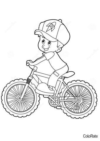 Мальчик на велосипеде (Велосипеды) распечатать раскраску