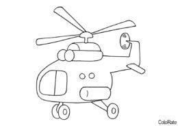 Маленький вертолетик раскраска распечатать бесплатно на А4 - Вертолеты
