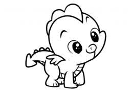 Раскраска Малыш-дракончик распечатать на А4 - Драконы