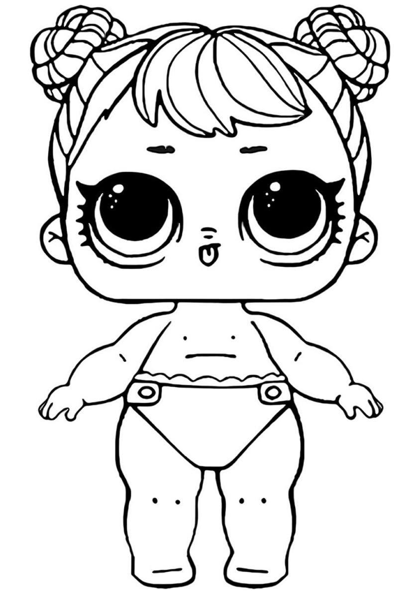 Раскраска Малышка Цветочный Ребенок распечатать | L.O.L ...