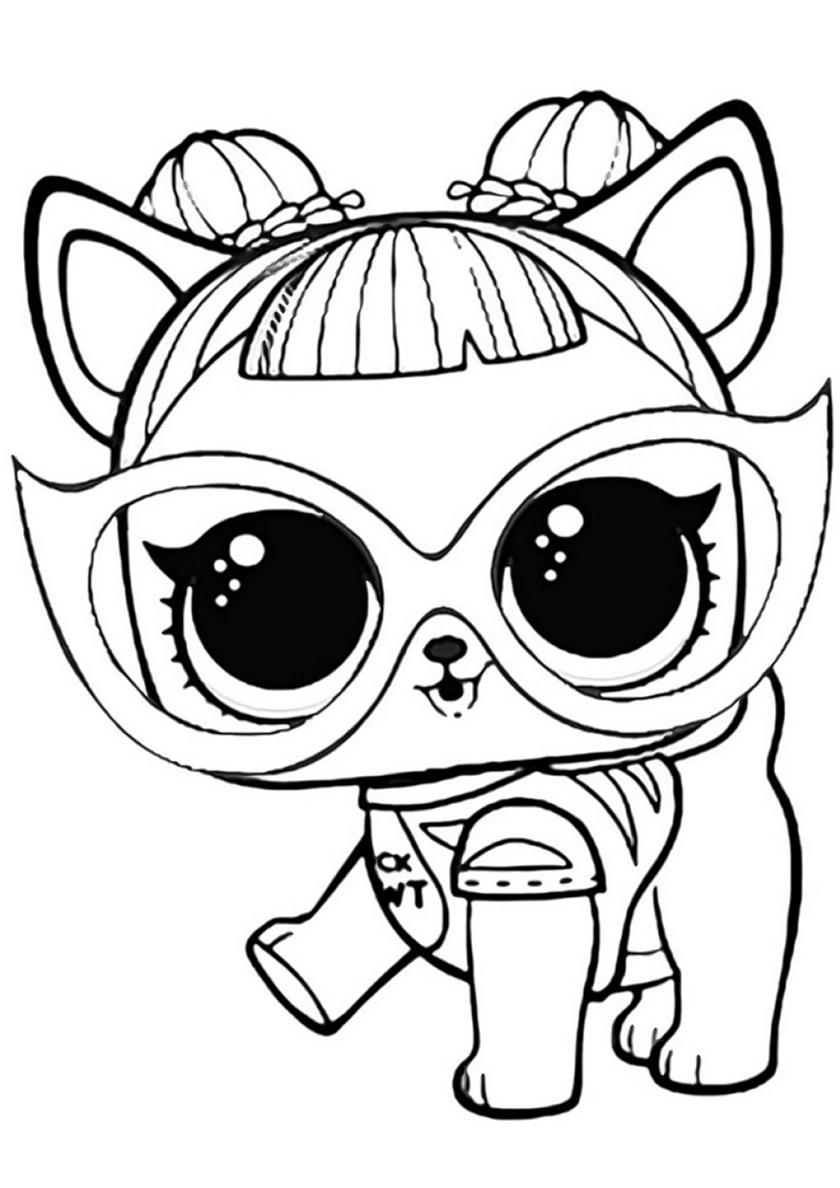 Раскраска Малышка Собачка распечатать | L.O.L Питомцы
