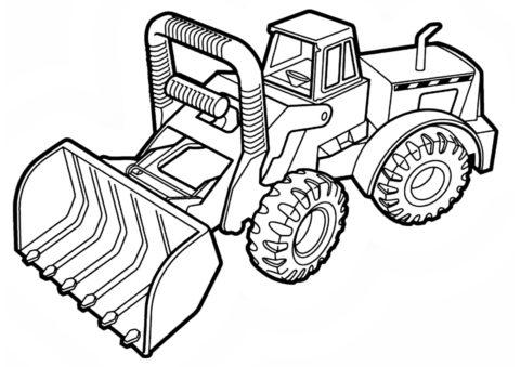 Машина для уборки распечатать раскраску - Трактора